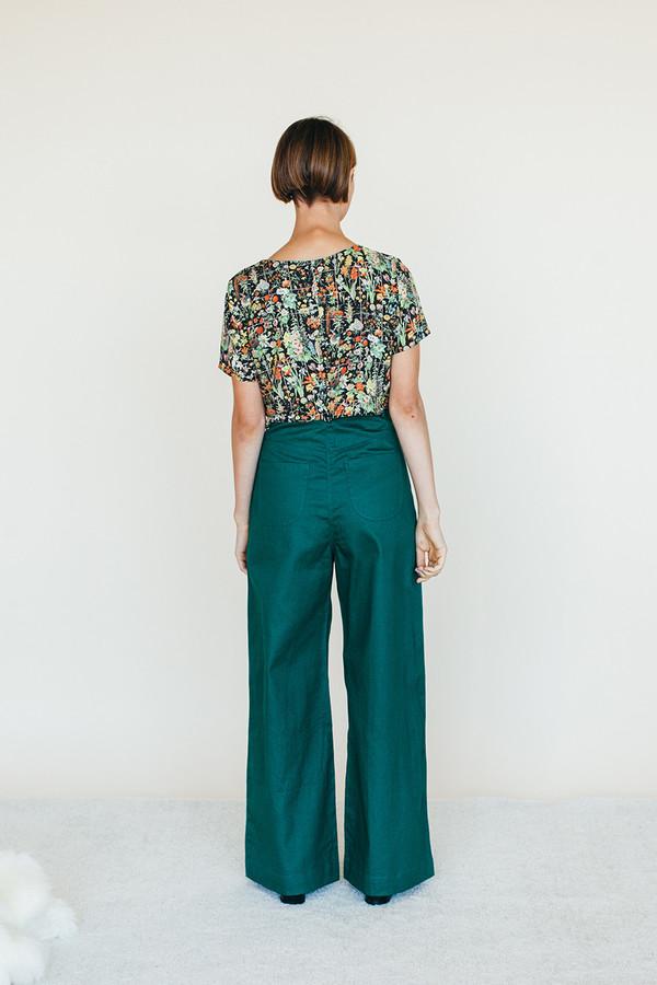 Samantha Pleet Strata Shirt - Floral Print