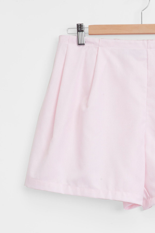 The Sleep Shirt Pleat Short Pink Royal Oxford