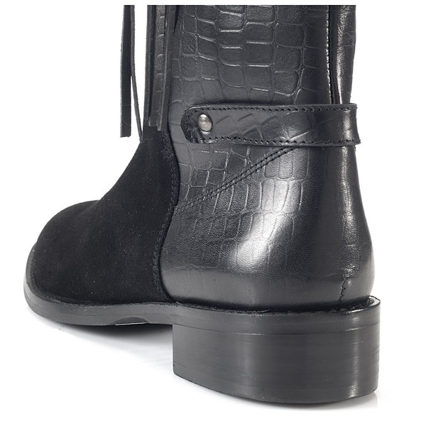 Artemisia Vesta Knee High Black Leather Boots