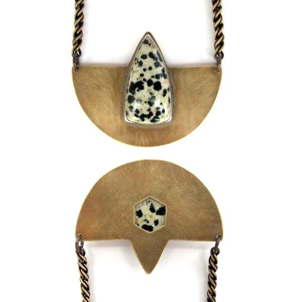 Laurel Hill Compass Necklace // Dalmatian