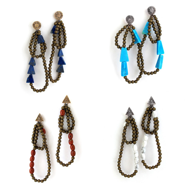 Laurel Hill Lapis Cairn Earrings