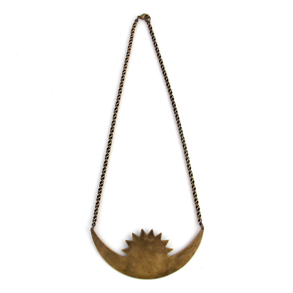 Large Rising Crescent Necklace