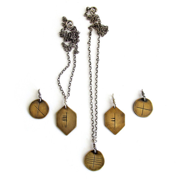 Laurel Hill Ogham // Celtic Tree Alphabet Personalized Rune Necklace