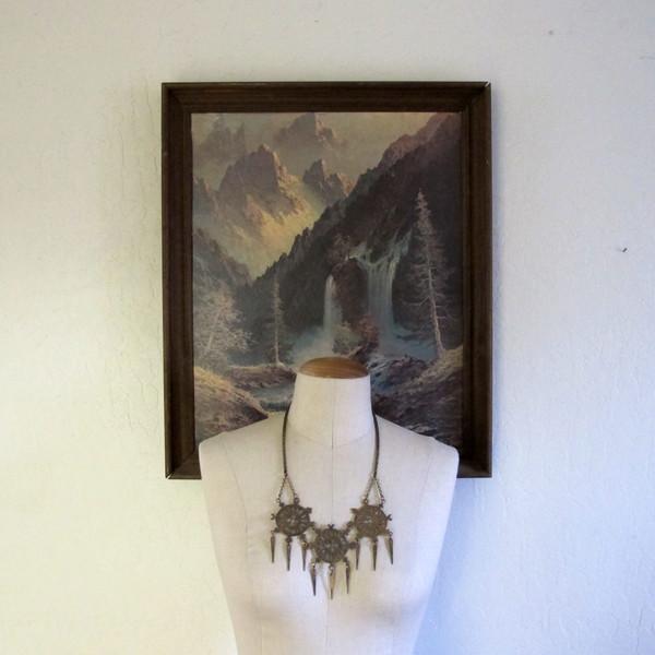 Laurel Hill Triple Wheel Necklace