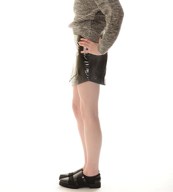 Mason By Michelle Mason Patent Leather Mini Skirt