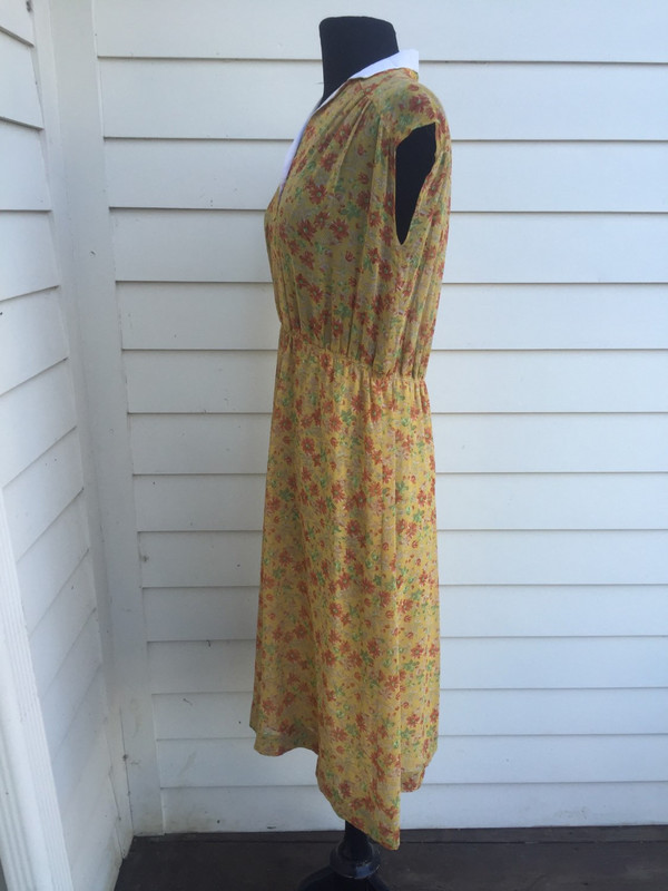 Japanese 70's floral sleevless summer dress size XL