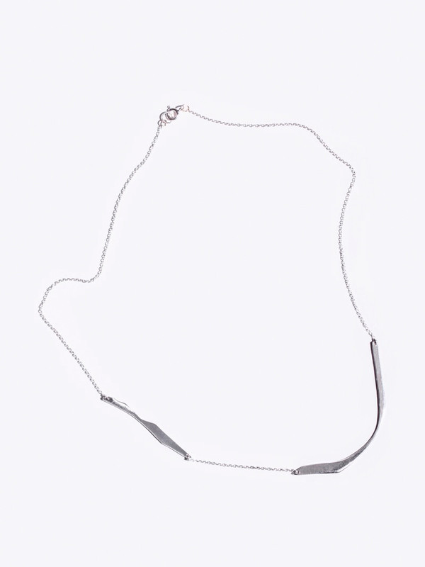 Faris Sterling Silver Cutout Necklace