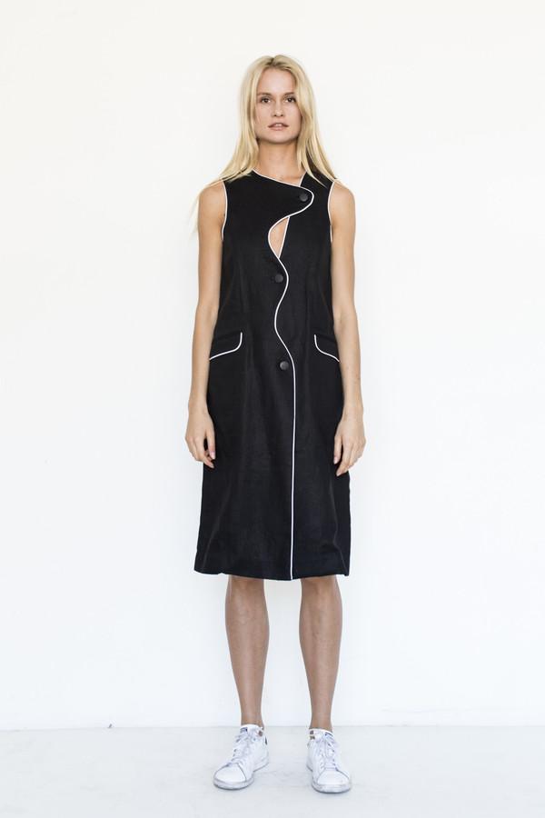 Kahle Curvilinear Vest Dress