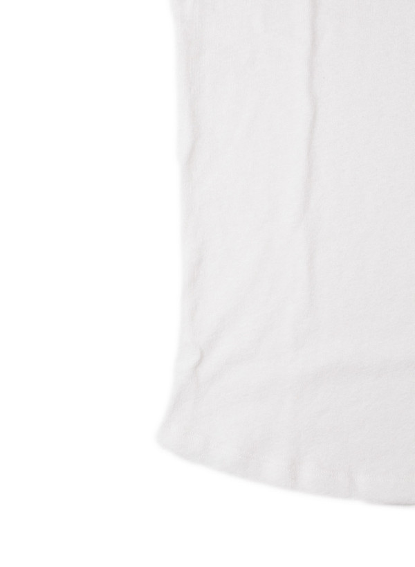 Men's john elliott Curve U-Neck Co-Mix White