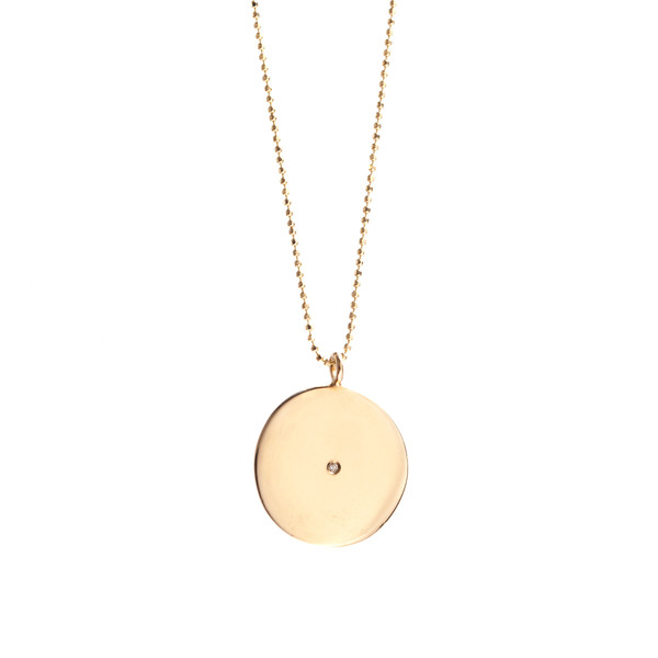Ariel Gordon 14K Circle Pendant Necklace with diamond
