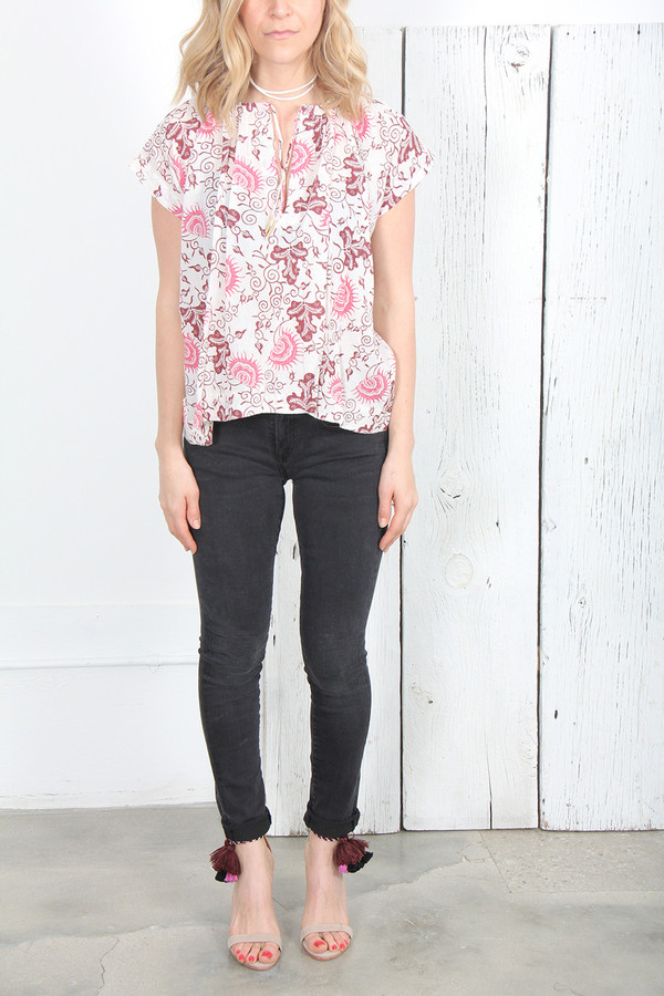 ULLA JOHNSON NEKA BLOUSE