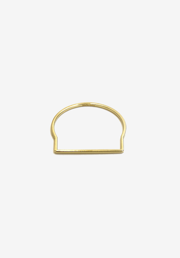 Mute Object Line Gold Ring