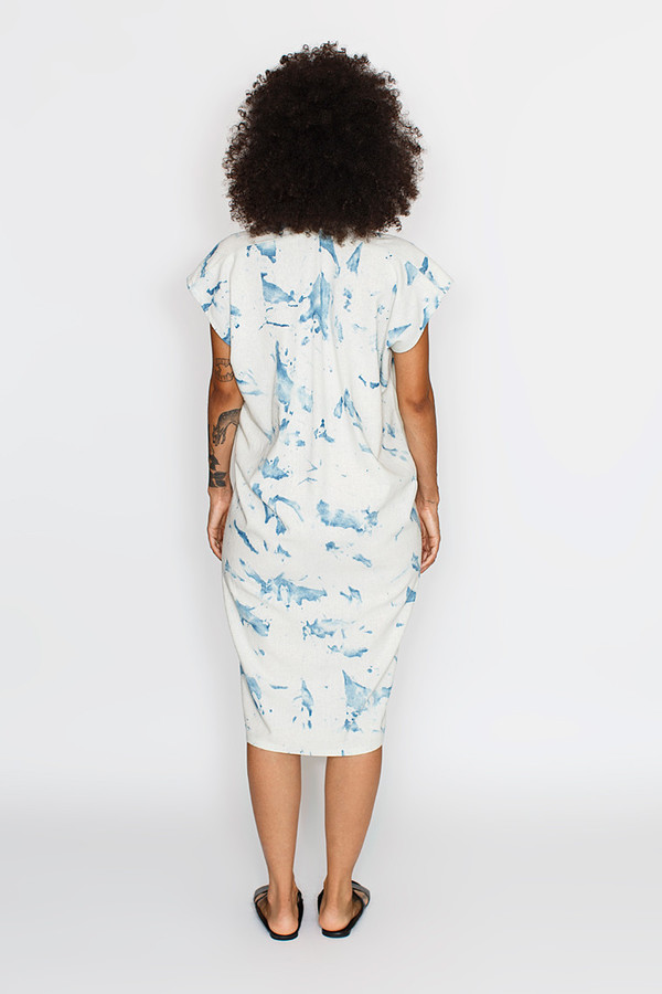 Miranda Bennett Tempest Dress, Silk Noil in Arashi