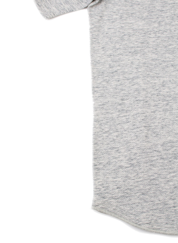 Men's Reigning Champ Knit Mesh Jersey Short Sleeve Henley Concrete