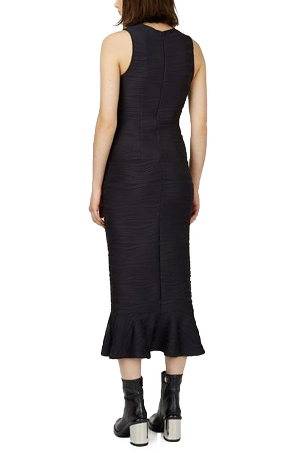 Opening Ceremony Wavy Lotus Maxi Dress I Black