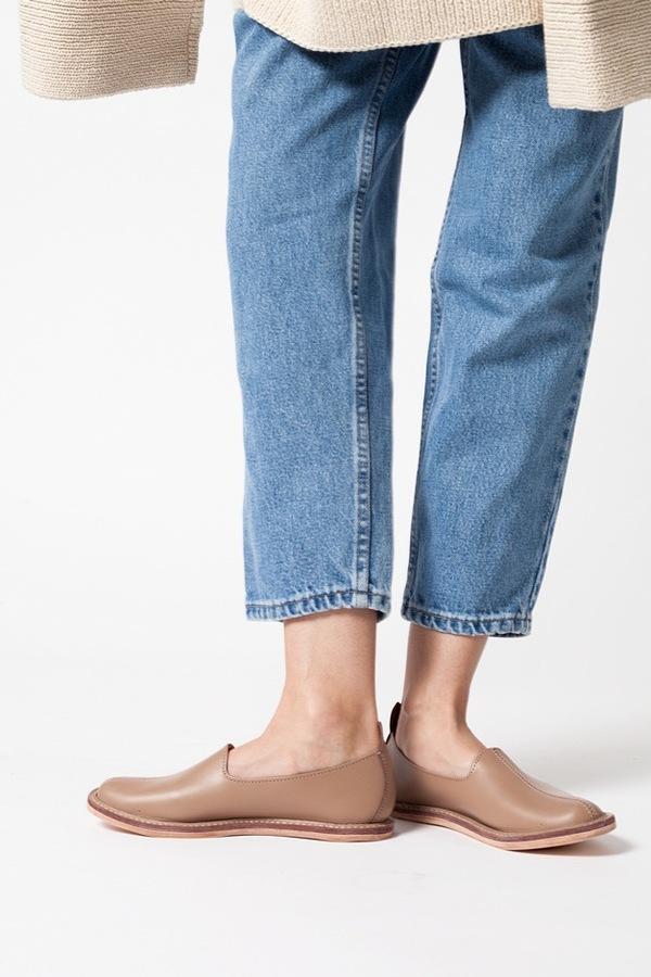 Vayarta Leather Slip On - terra