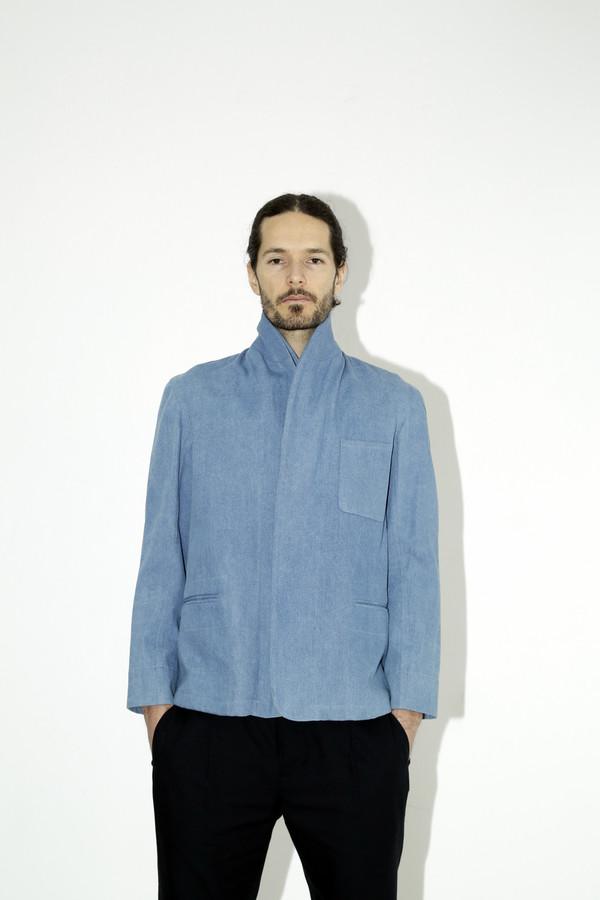 Men's Assembly Denim Double Shawl Jacket