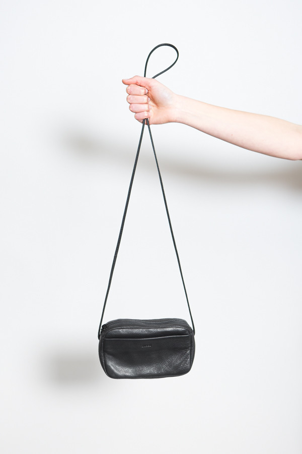 Baggu Mini Leather Purse / Black