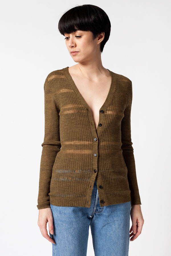 Creatures of Comfort V-Neck Cardigan - duck