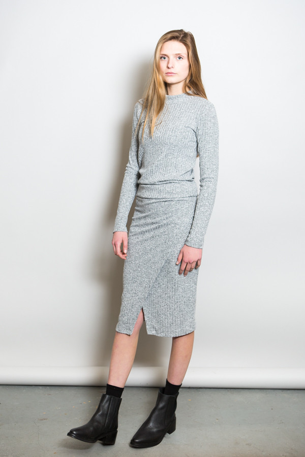 Just Female Picnic Skirt Snow Melange