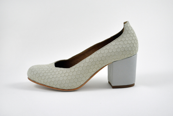 The Palatines Saturo Pump - beige hex leather