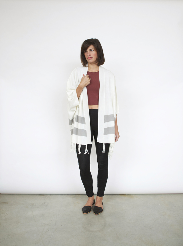 Lumiere Striped Fringe Sweater