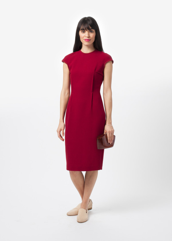 Amelia toro wool crepe fitted dress from baby amp company garmentory