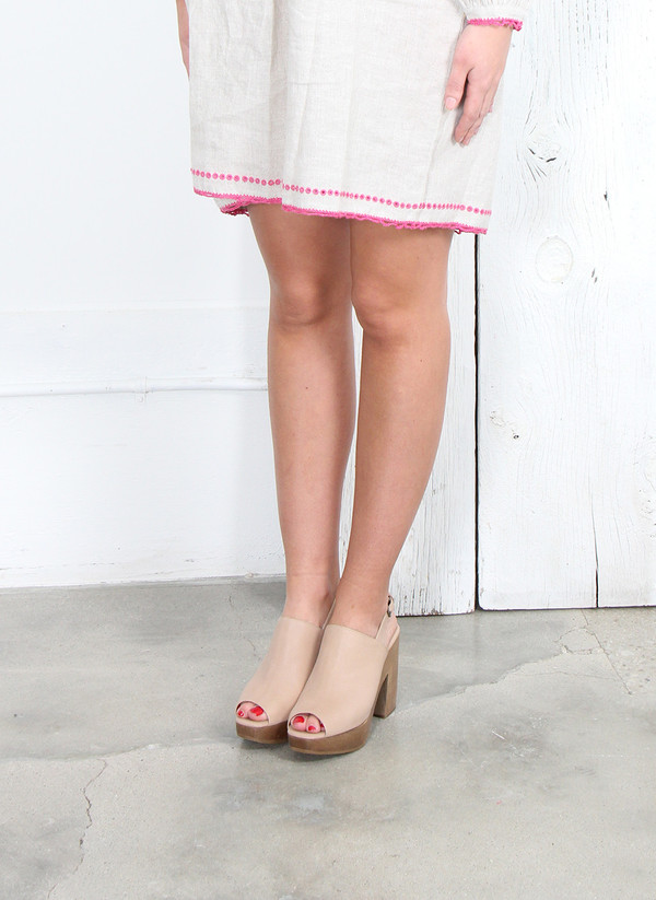 Rachel Comey GOBI SLINGBACK CLOGS IN STONE