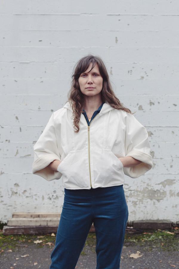 Nahanni Arntzen Kendall sherpa denim jacket