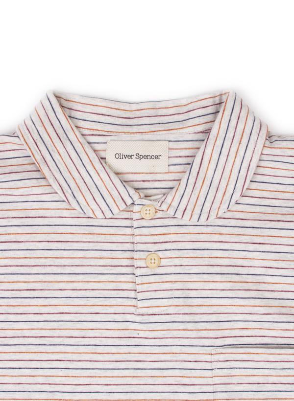 Men's Oliver Spencer Harper Polo Oatmeal/Multi