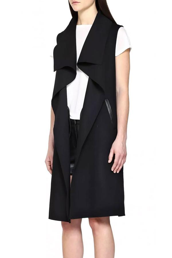 Mackage Tess Sleeveless Wool Vest I Black