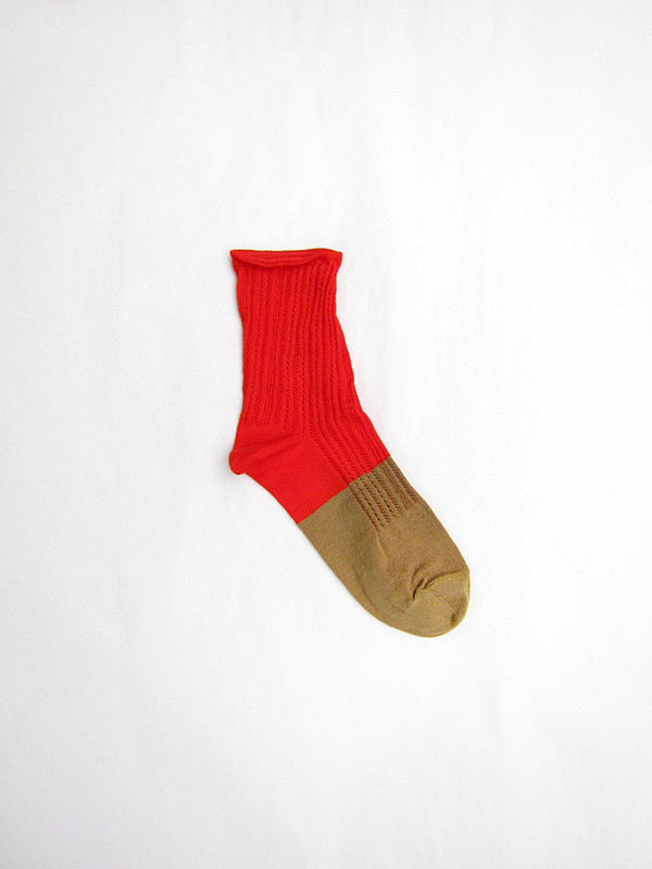 BLESS Garp Socks, Rouge/Beige