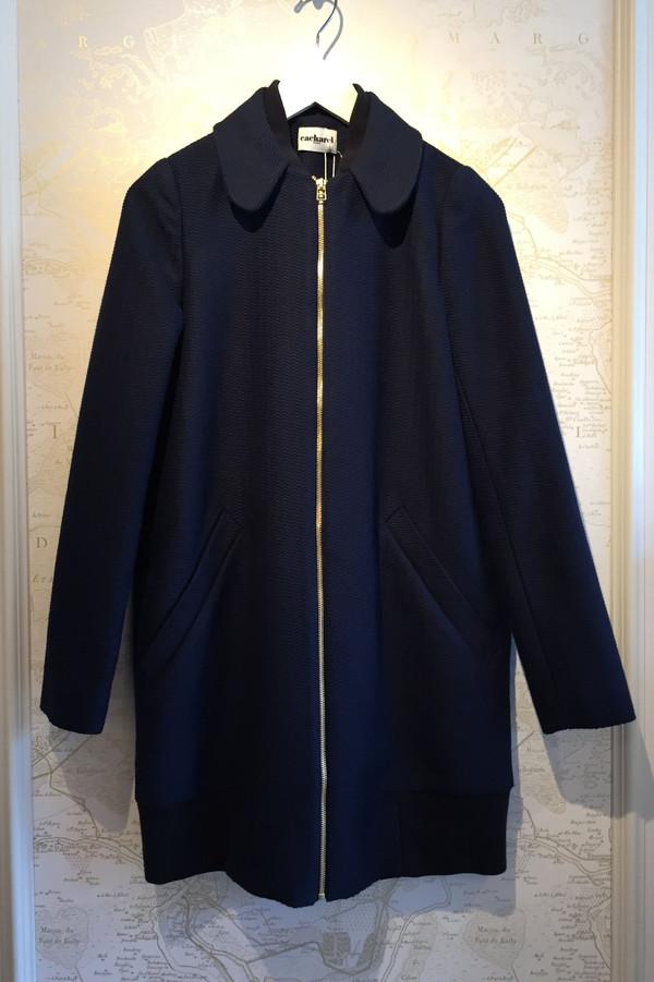Cacharel Chevron Knit Zip coat