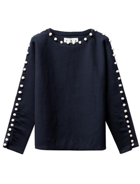 Trademark Bobble Boatneck Sweater Navy