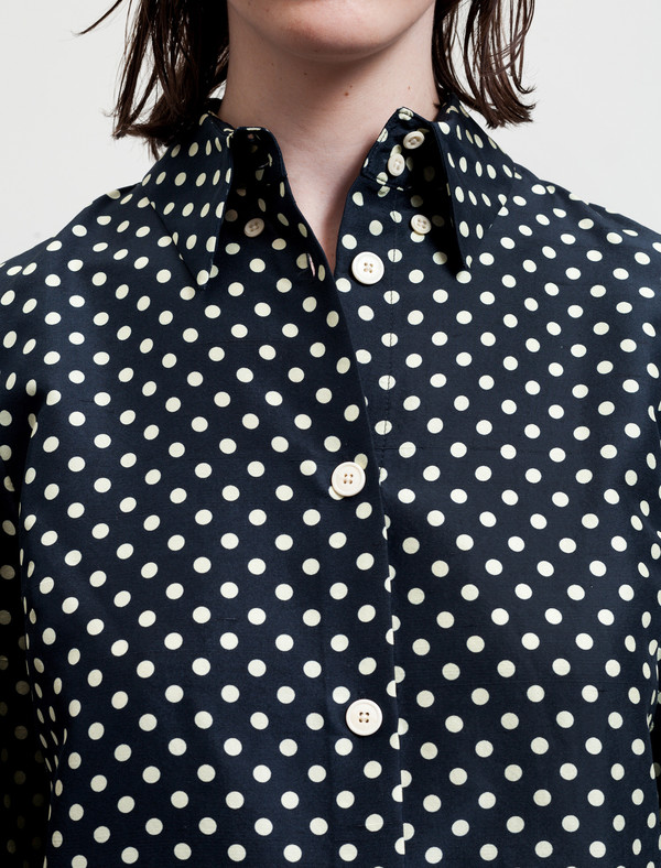 Trademark Polka Dot Silk Shirt