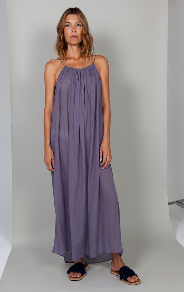 Two NYC Purple with metallic cord dress