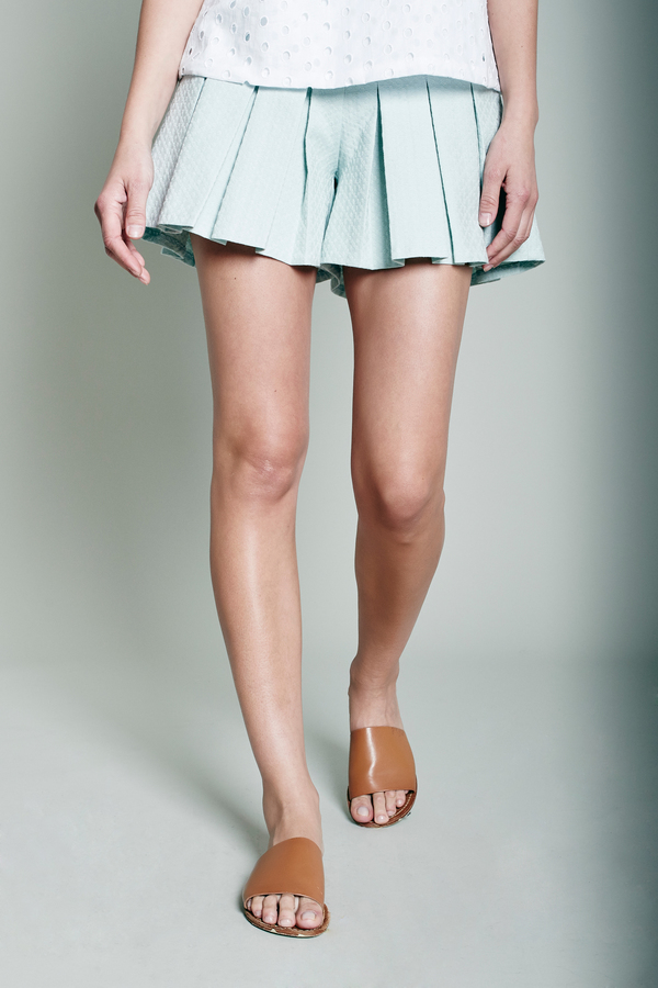 William Okpo Mint Tennis Shorts