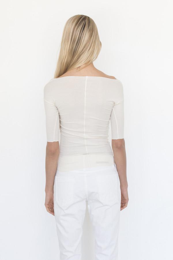 Baserange Cotton Rib Long Sleeve Top