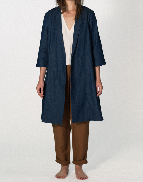 ALI GOLDEN NOTCH DENIM COAT