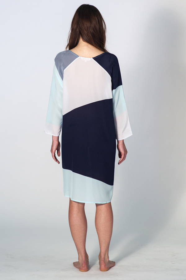 ALI GOLDEN COLOR BLOCK DRESS