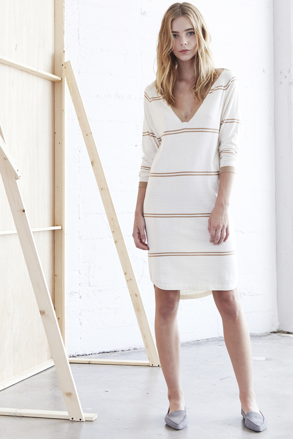 Callahan Stripe V Neck Dress