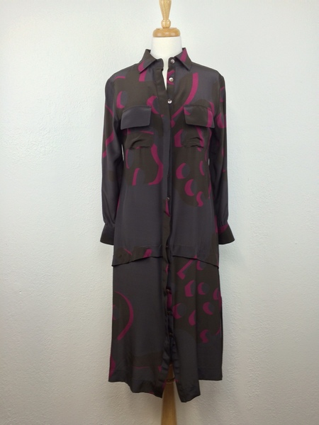 Feral Childe Poms Long Shirt Dress