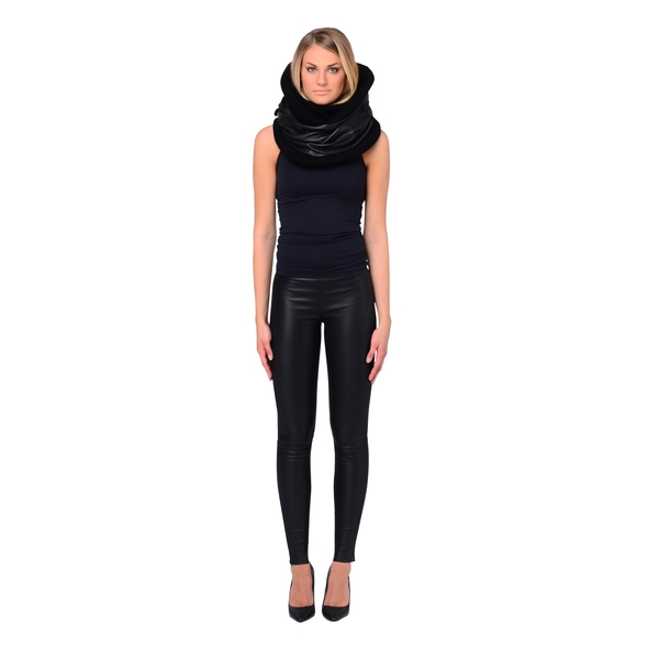 LAMARQUE PIPE-SCARF Leather Infinity Scarf