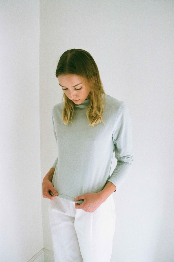 Han Starnes Long-Sleeve Jersey Top - Ash Gray