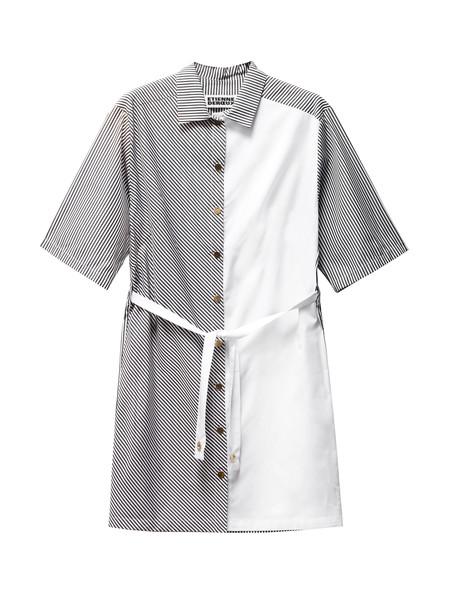 Etienne Deroeux Womens Laika Striped Shirtdress