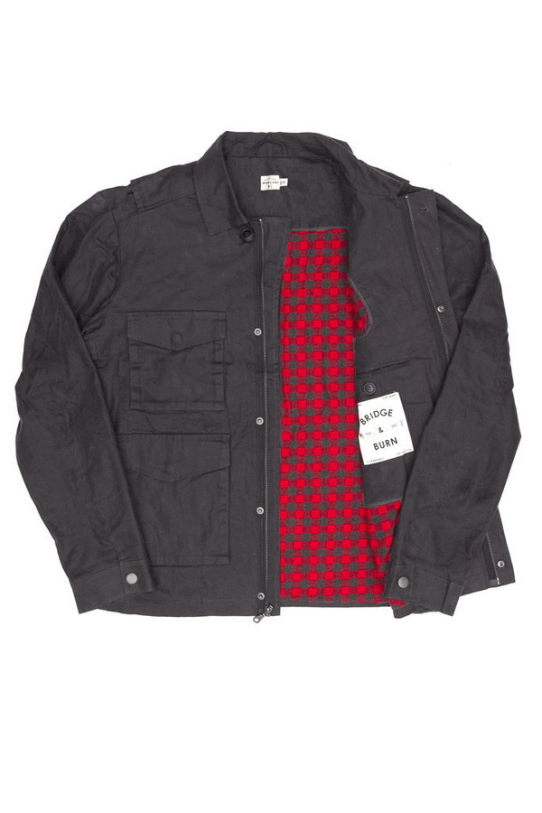 Men's Bridge & Burn Adams Waxed Coal Jacket