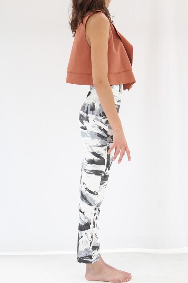 Osei Duro Vapos Trouser Black White Abstract