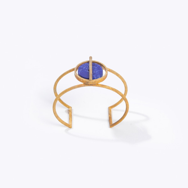 Metalepsis Projects Disc Cuff - Blue Stone