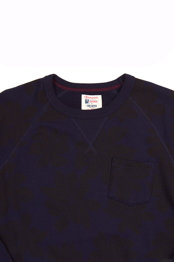 Men's Todd Snyder x Champion Floral Pocket Sweatshirt