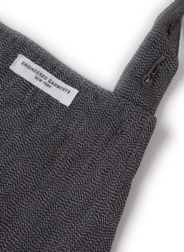 Long Apron Grey Broken Chambray